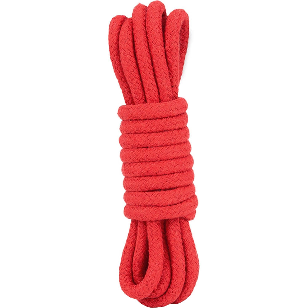 Lux Fetish Soft Bondage Rope 10 Feet 3 Meters Red - View #1