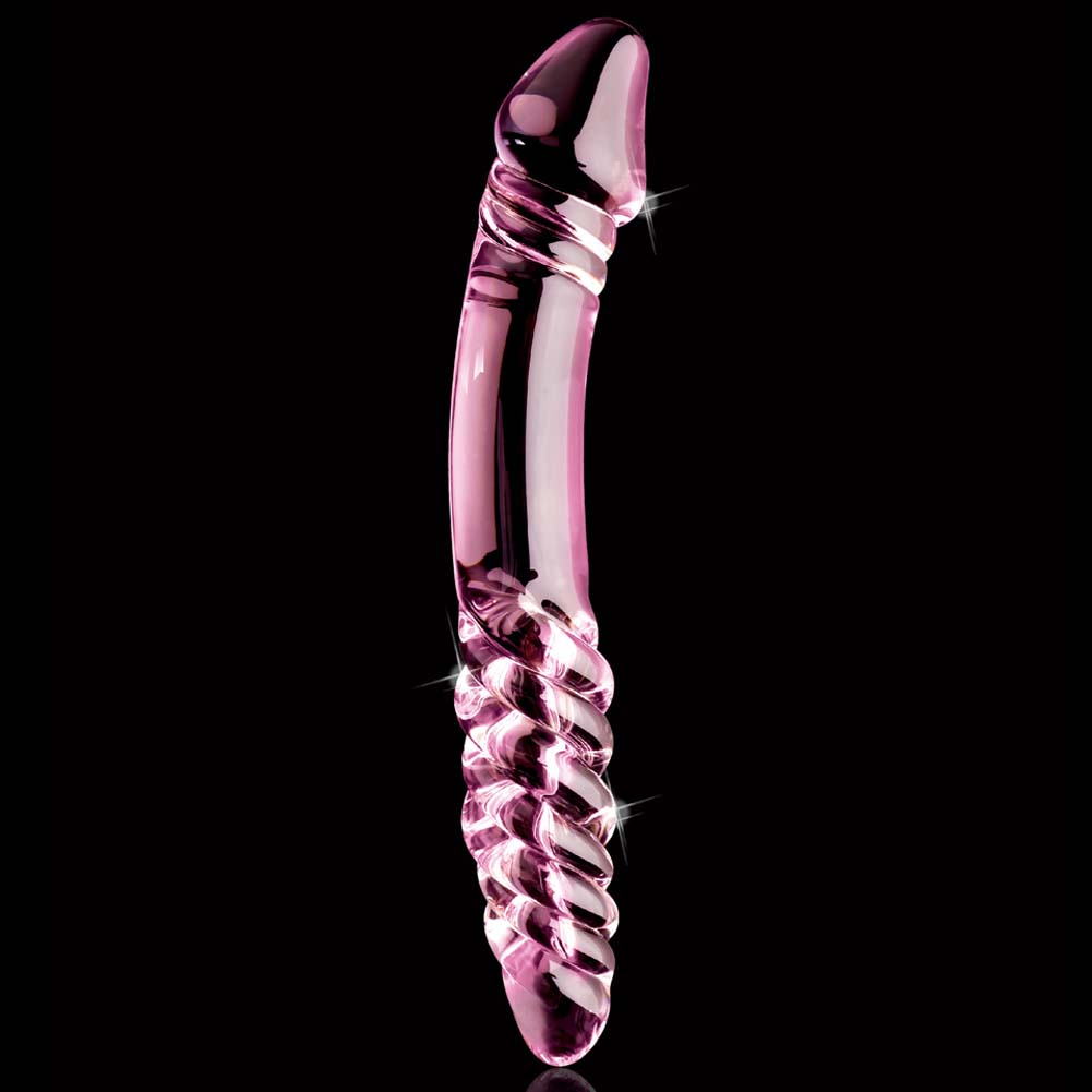 """Icicles No. 57 G-Spot Glass Dong 9"""" Pink - View #3"""