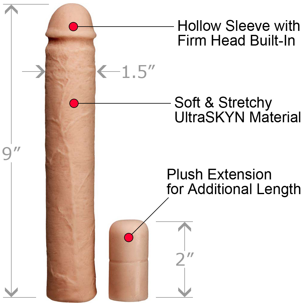 """Xtend It Kit 9"""" UR3 Penis Sleeve and 2.5"""" Penis Extension Natural - View #1"""