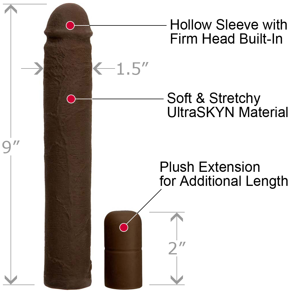 "3"" Extra Length UltraSkyn Adjustable Penis Xtend It Kit 9"" Chocolate - View #1"