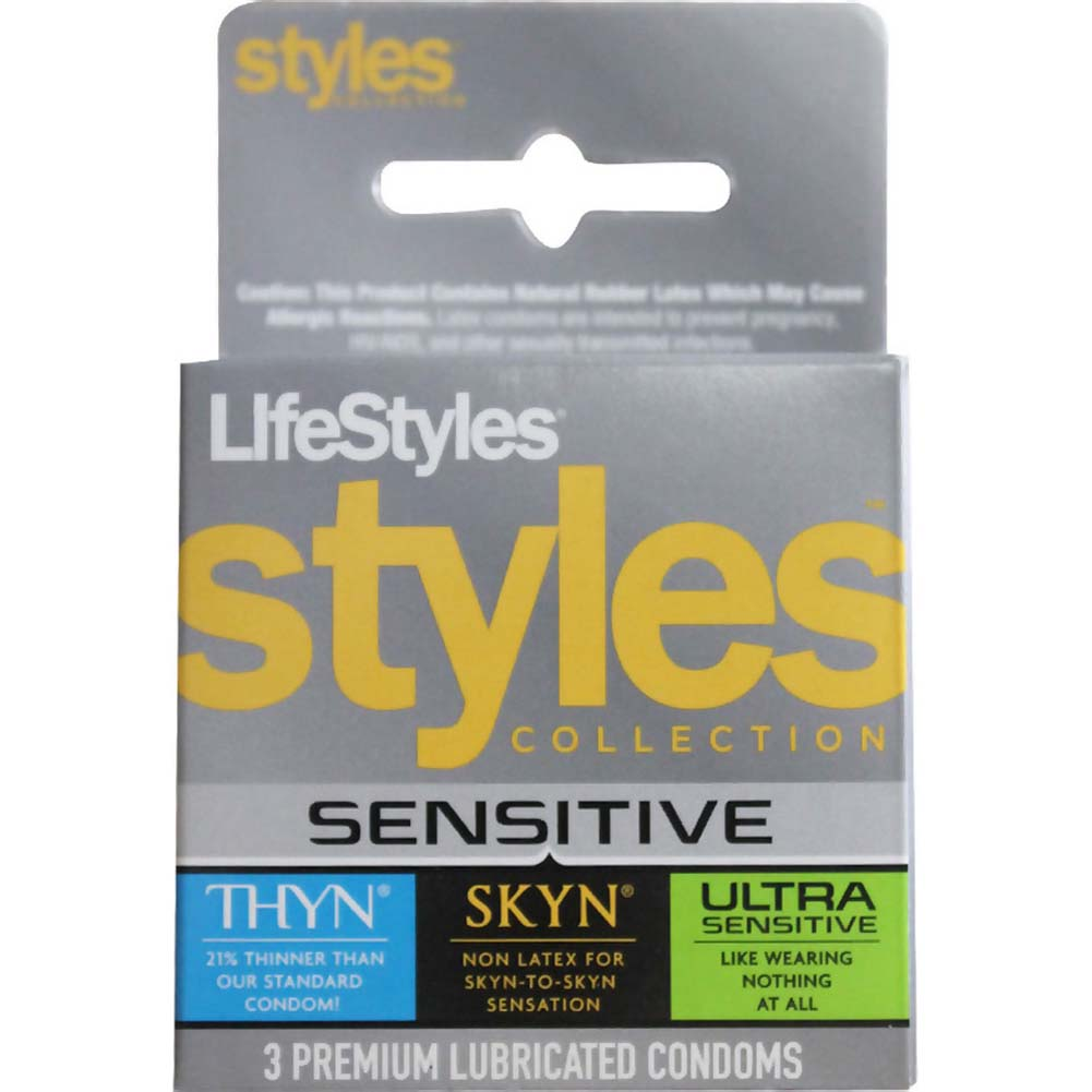 LifeStyles STYLES Sensitive Collection Condoms 3 Pack - View #1