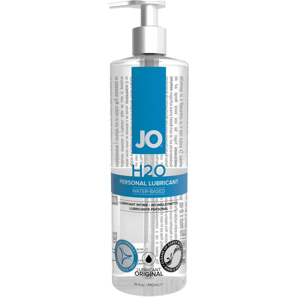 JO H2O Original Personal Water Based Lubricant 16 Fl.Oz 480 mL - View #2