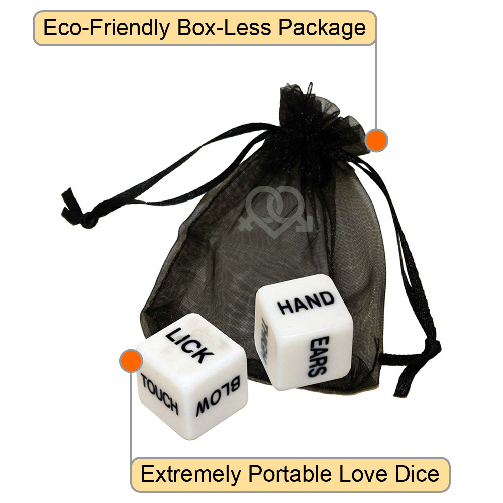 OptiSex Erotic Dice for Lovers with Storage Pouch - View #1