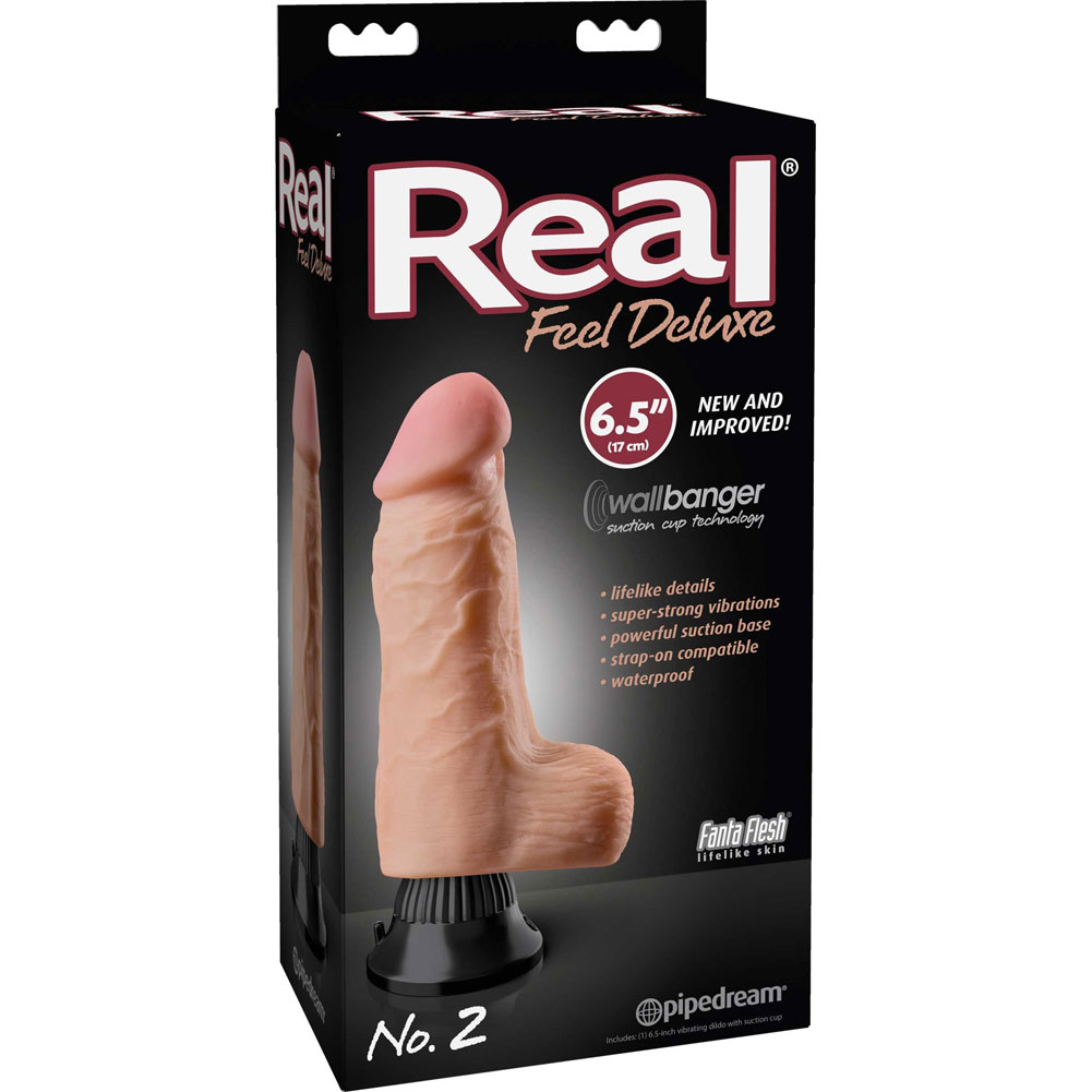 """Real Feel Deluxe 2 - Thick Realistic Vibe 6.5"""" Natural - View #1"""