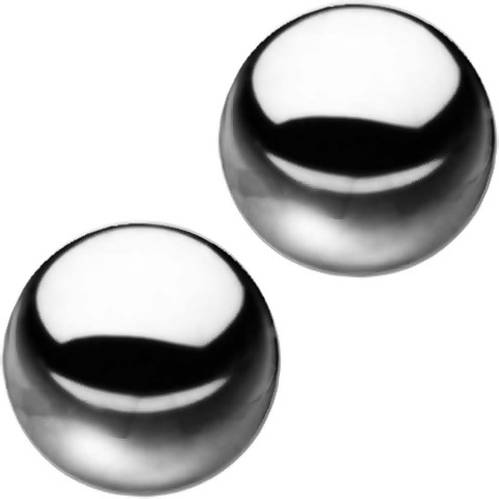 Sex and Mischief SM Stainless Steele Balls Two Balls and Storage Bag - View #1