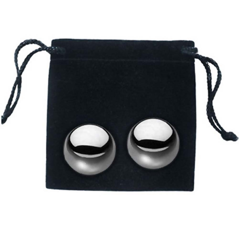 Sex and Mischief SM Stainless Steele Balls Two Balls and Storage Bag - View #3