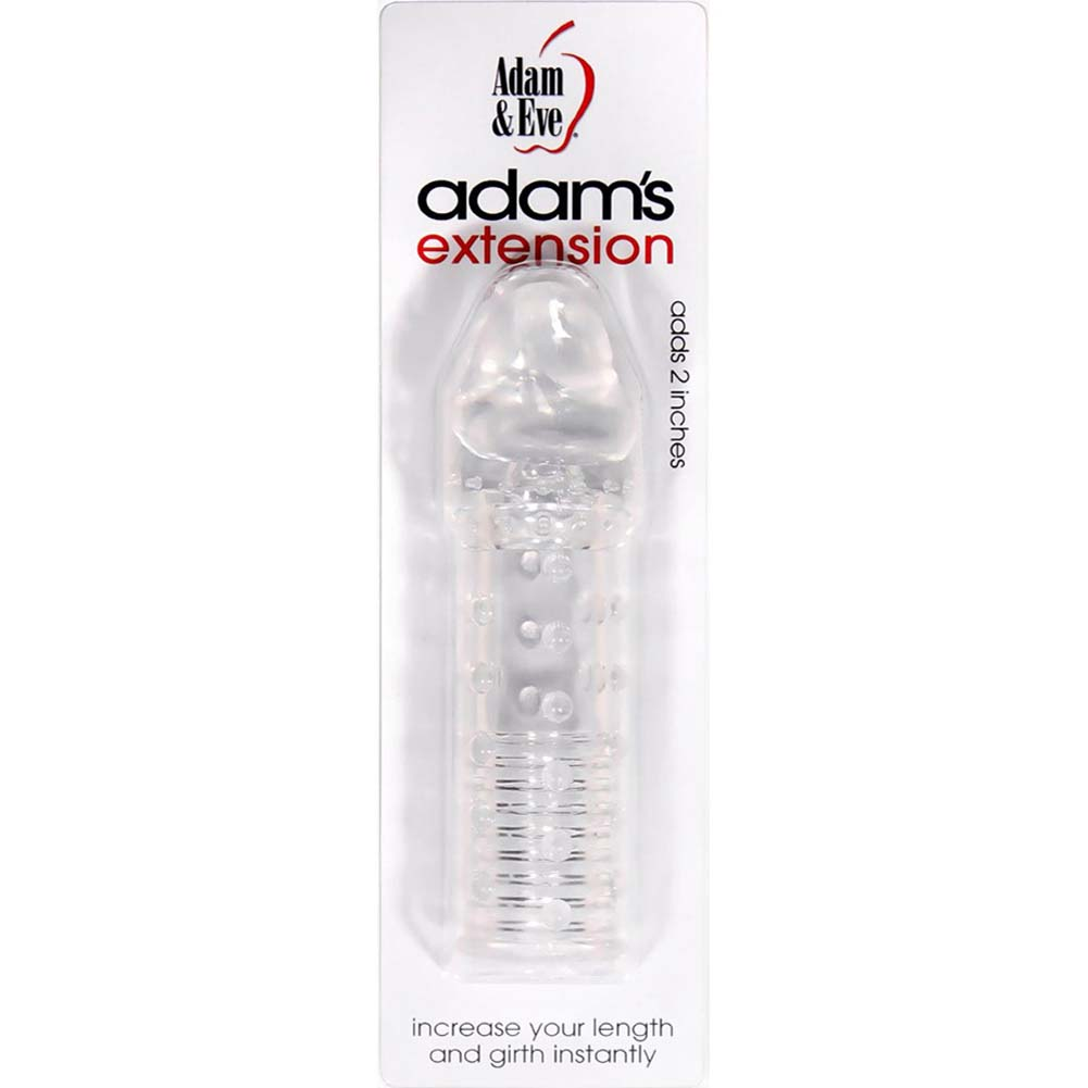 "Adam and Eve 2"" Extra Length Adams Extension 6"" Clear - View #1"