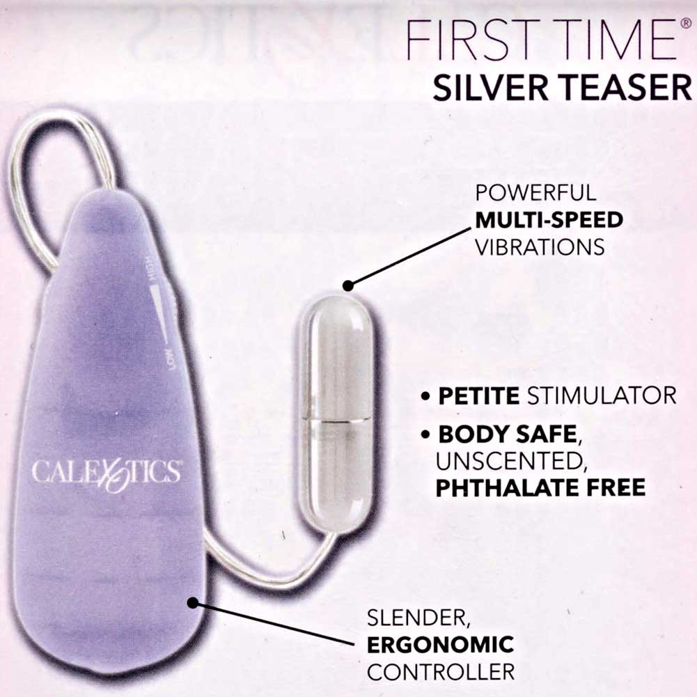 "CalExotics First Time Silver Teaser Intimate Bullet Vibrator 2.25"" Purple - View #1"