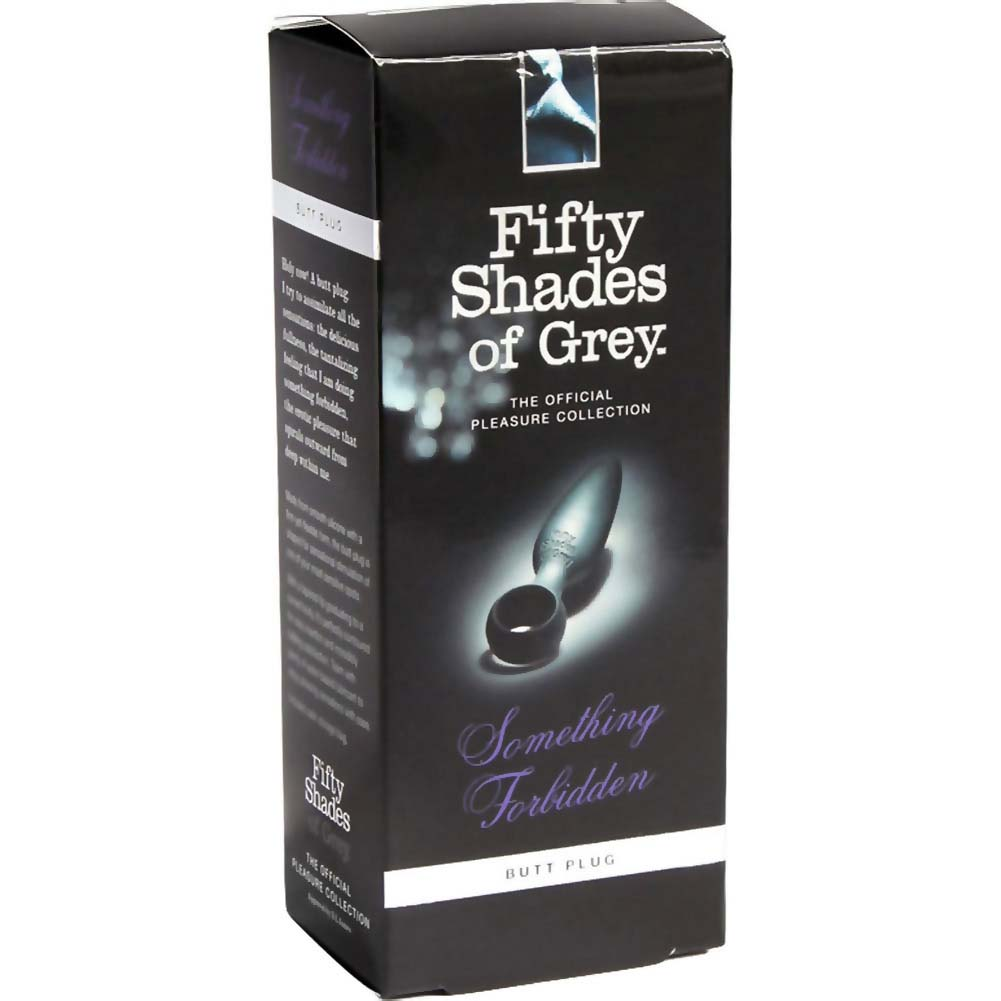 """Fifty Shades of Grey Something Forbidden Butt Plug 4.25"""" Black - View #4"""