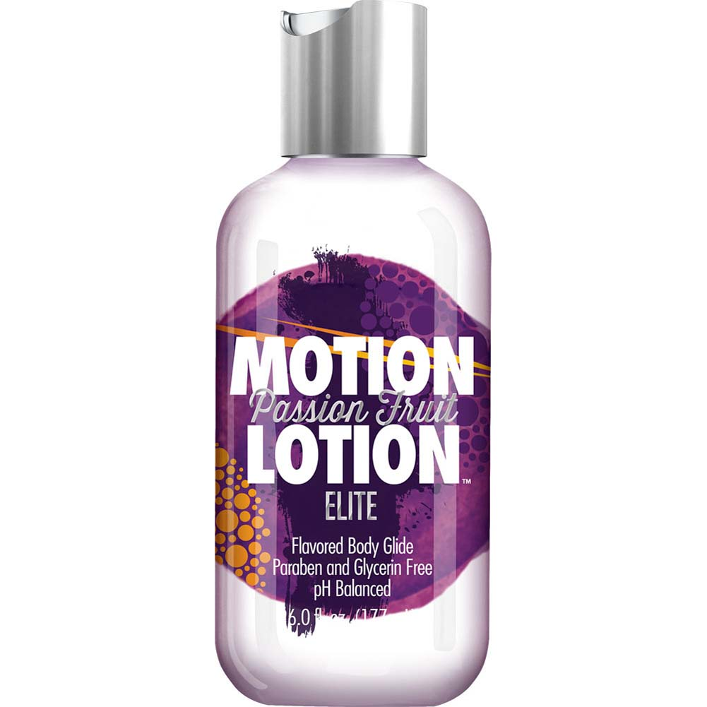 Motion Lotion Elite Flavored Body Glide Lubricant 6 Fl.Oz 177 mL Passion Fruit - View #1