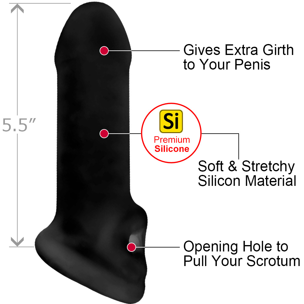 "Perfect Fit Fat Boy Extender Thin Standard 5.5"" Black - View #1"