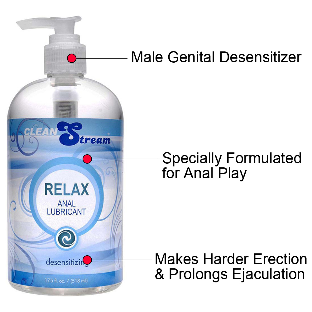 CleanStream Relax Desensitzng Anal Lube 17.5 Fl.Oz 518 mL - View #1