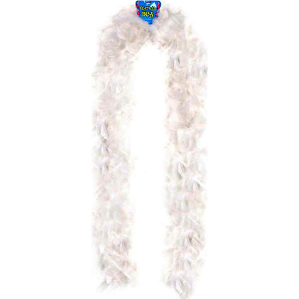 """Lightweight Feather Boa Party Accessory 72"""" White - View #1"""