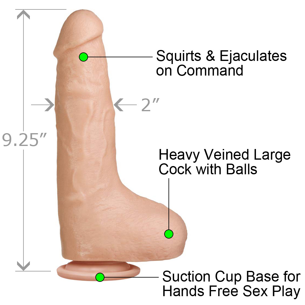 """Bust It Squirting Realistic Cock 9.25"""" Natural - View #1"""