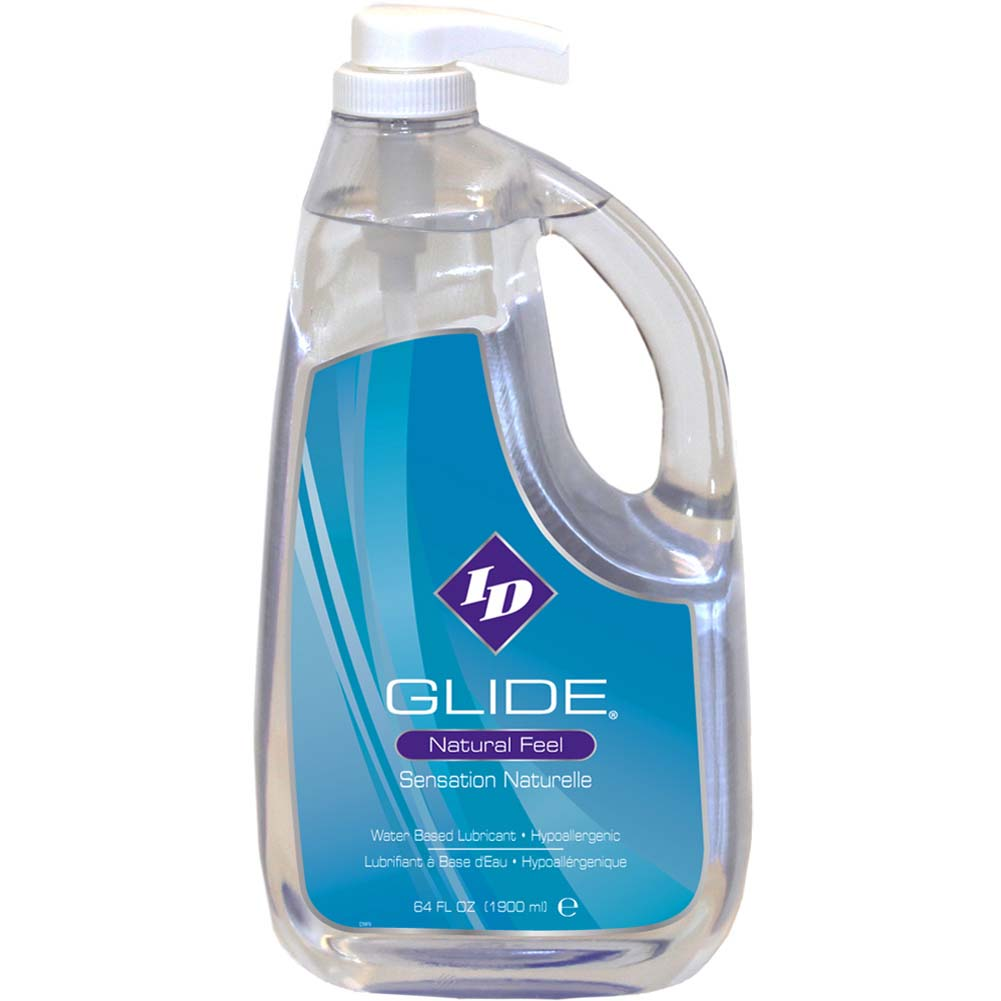 ID Glide Natural Feel Water-Based Personal Lubricant 64 Fl.Oz 1900 mL - View #2