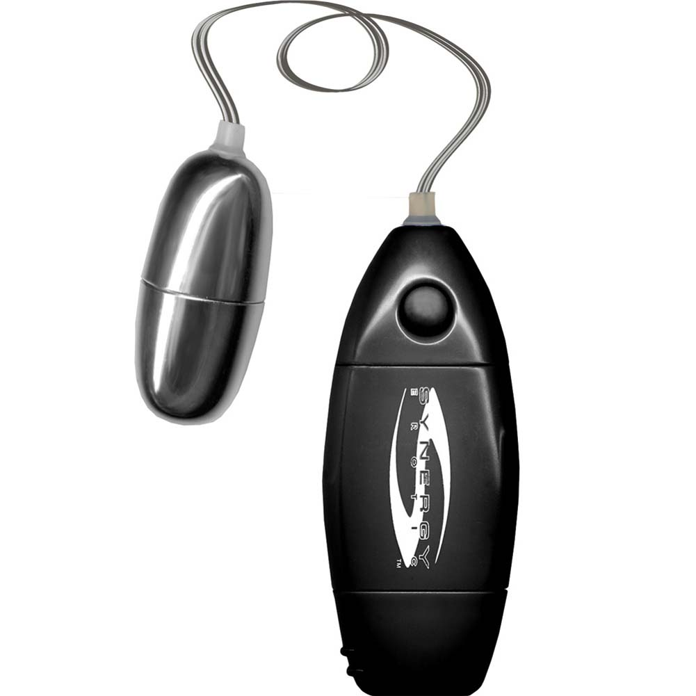 Synergy Erotic Synergy Perfect Touch Excite Her Silver Bullet Vibrator Pastel Black - View #2