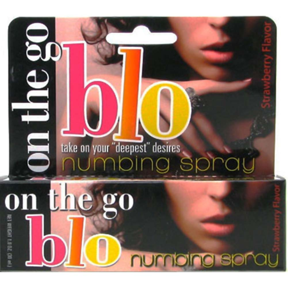 Hottproducts On the Go BLO Numbing Spray 1 Fl. Oz. Strawberry - View #1