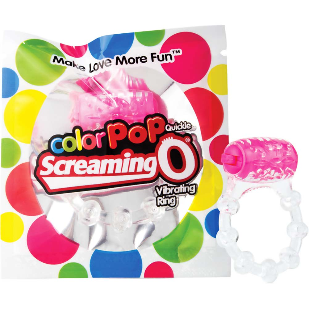 Screaming O ColorPoP Quickie Vibrating Ring Pink - View #4