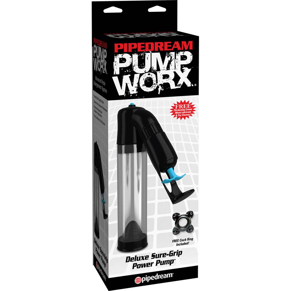 """Pump Worx Deluxe Sure-Grip Pump 7.5"""" by 2"""" Clear/Black - View #1"""