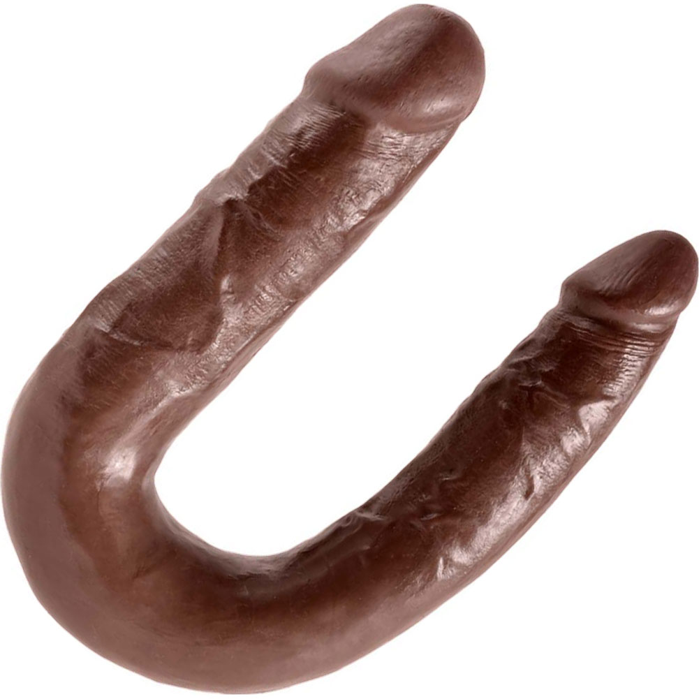 King Cock U-Shaped Medium Double Trouble Dildo Brown - View #2