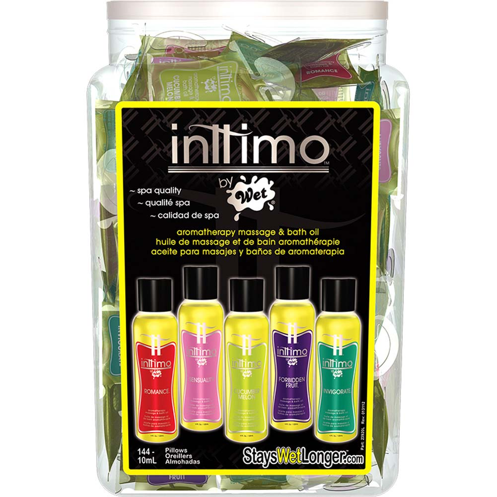Inttimo by Wet Aromatherapy Massage Oil 10 Ml 144 Pillows Bowl Display of Assorted Flavors - View #1