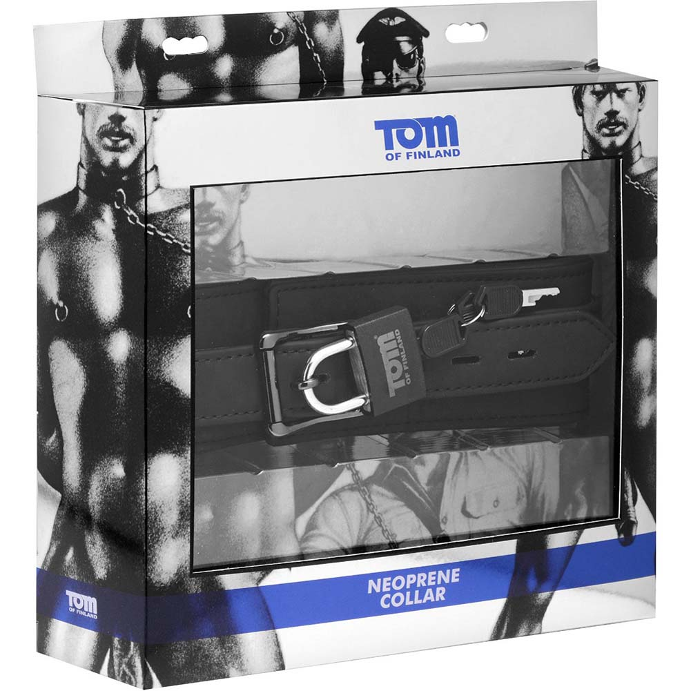 Tom of Finland Neoprene Locking Collar Black - View #1