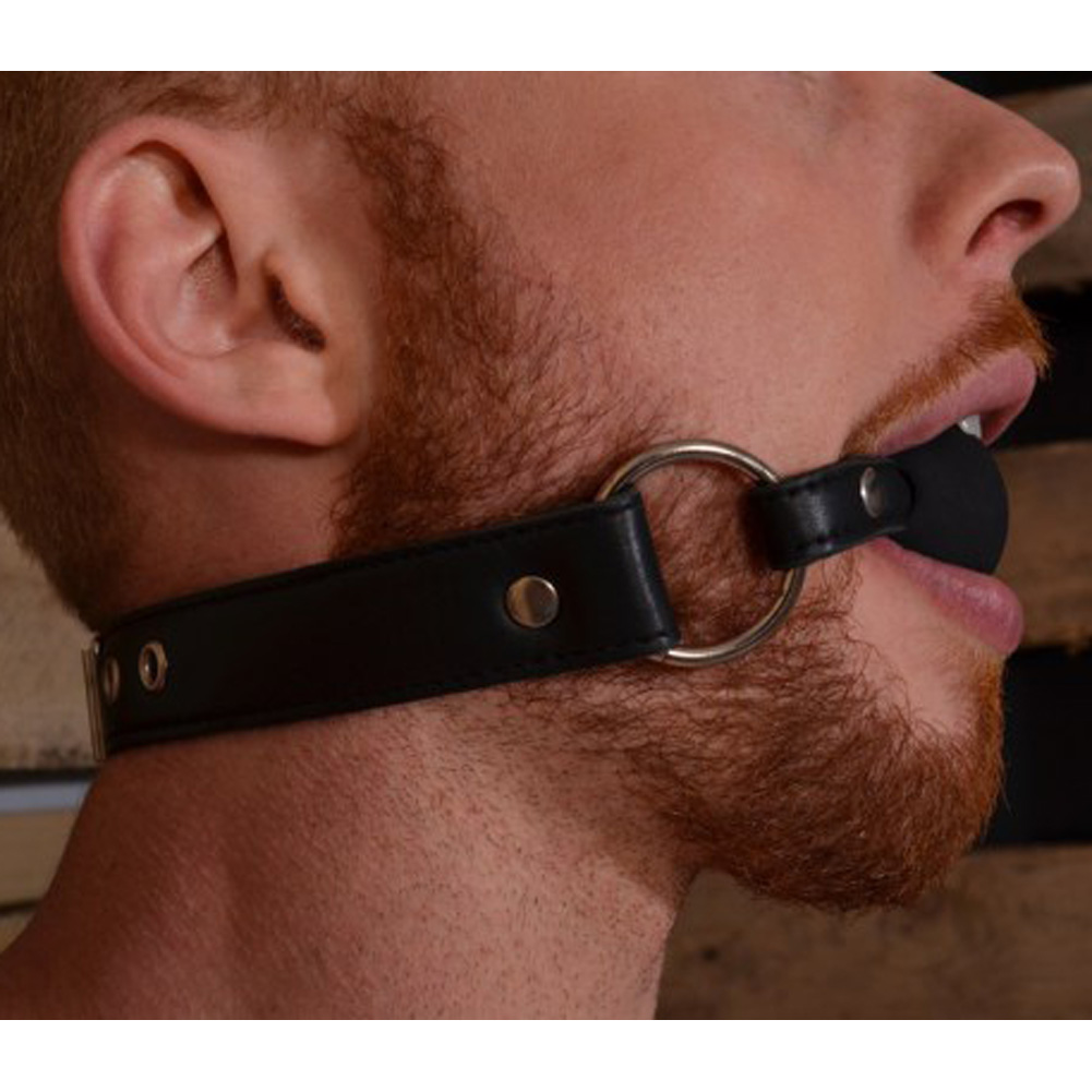 Rouge Leather Ball Gag Black - View #3