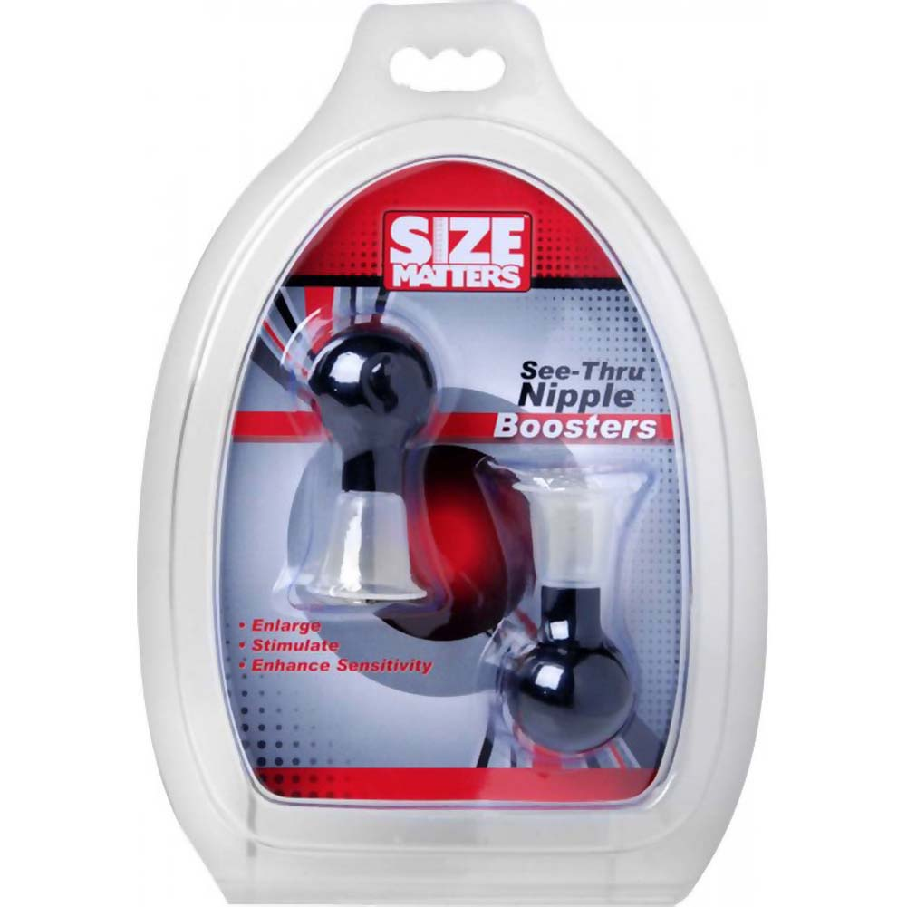 Size Matters See-Thru Nipple Boosters Black - View #3
