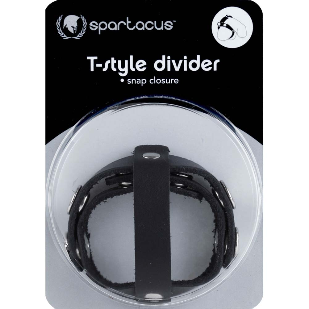 Spartacus Crave T Style Leather Ball Divider Black - View #3