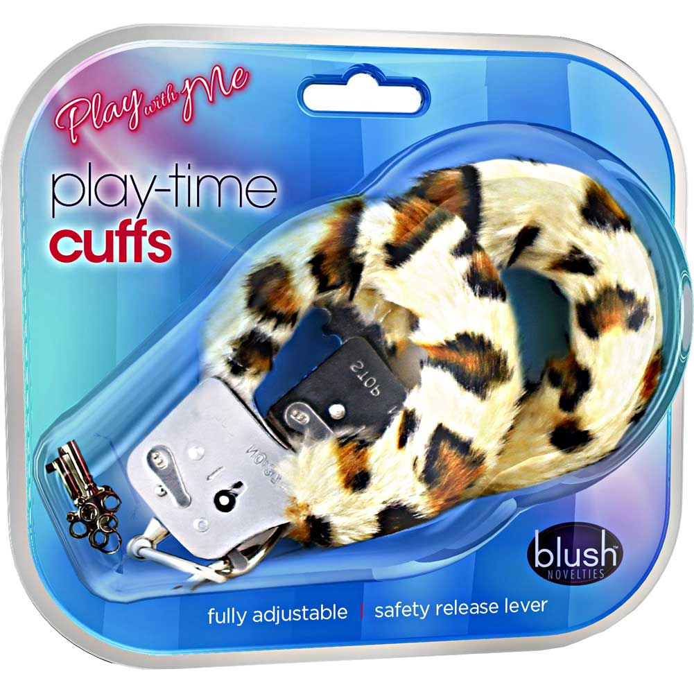 Blush Play with Me Play Time Cuffs Leopard Print Fur - View #1
