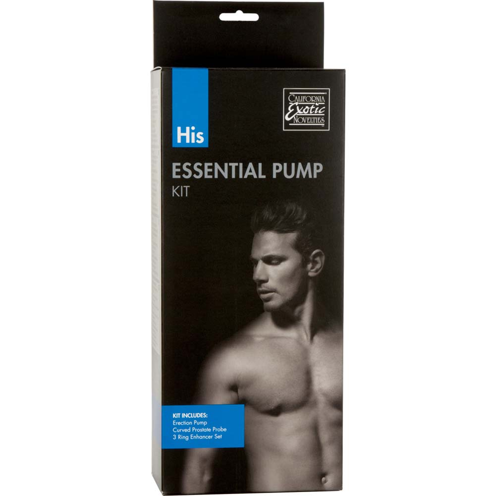 "His Essential Pump Kit with Pump 7.75"" by 2.25"" Clear/Black - View #1"
