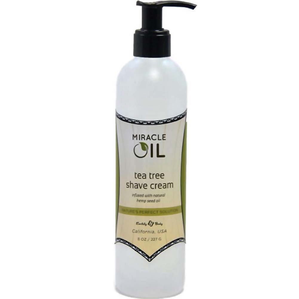Earthly Body Miracle Oil Shave Cream 8 Oz 237 G Tea Tree - View #1