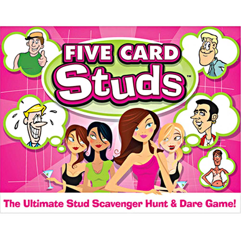 Five Card Studs Card Game for Ladies - View #1