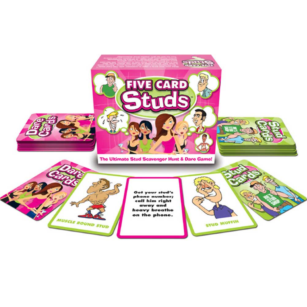 Five Card Studs Card Game for Ladies - View #2