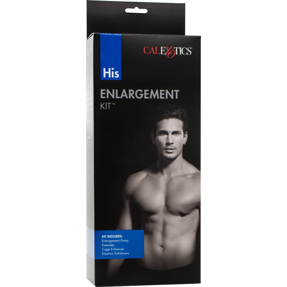 """His Enlargement Kit with Penis Pump 7.75"""" by 2.25"""" Clear - View #1"""