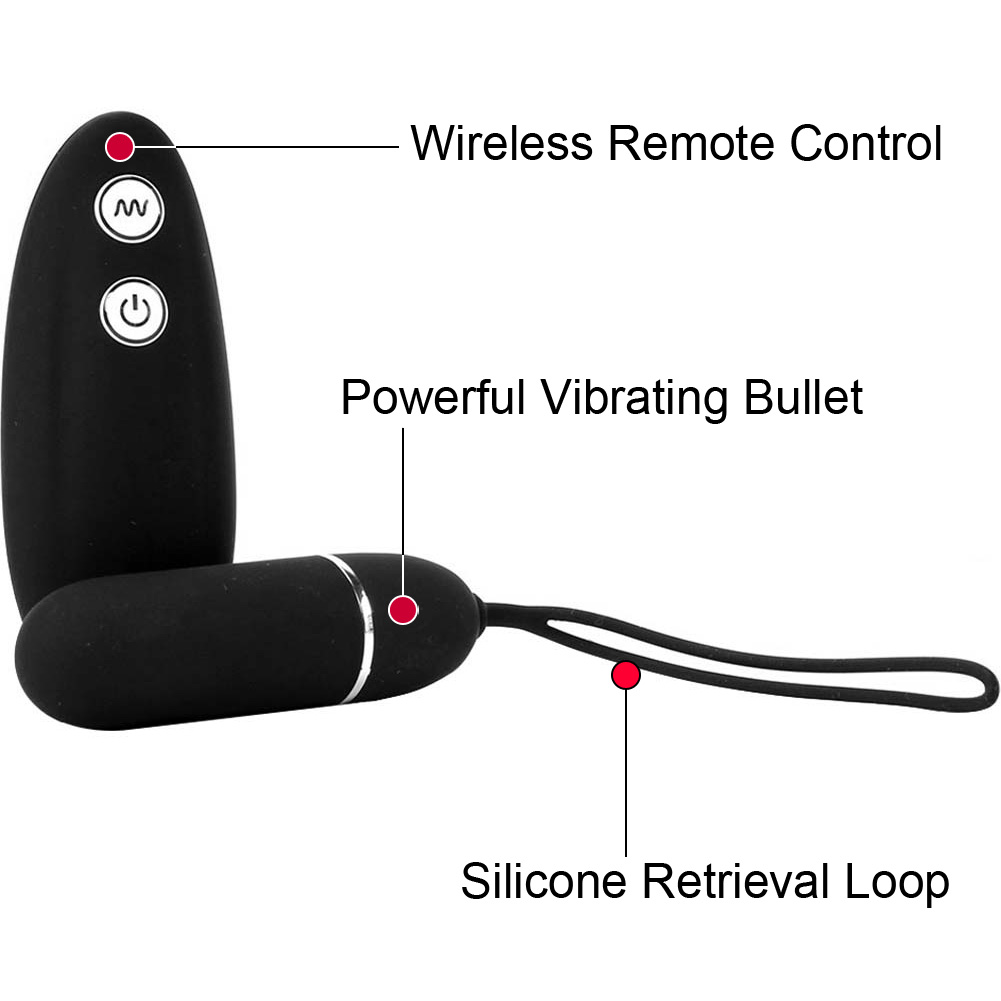 Hustler Wireless Remote Control Vibrating Panties Small/Medium Red - View #1