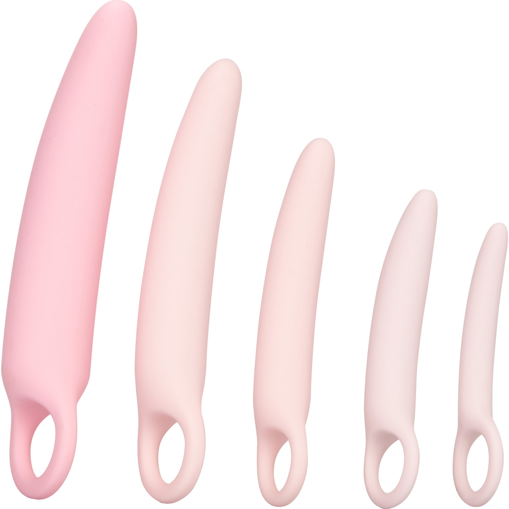 CalExotics Inspire Silicone Vaginal Dilator 5 Piece Kit Soft Pink - View #3
