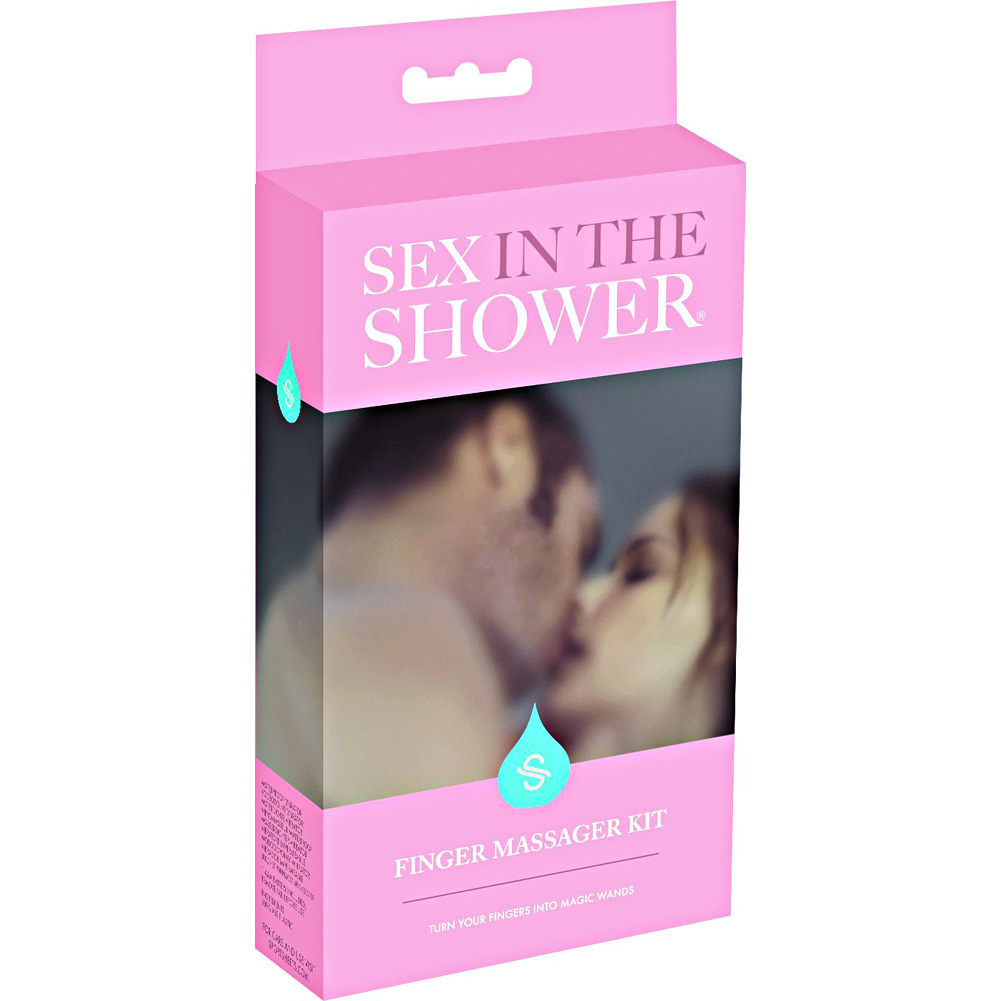 Sex In The Shower Finger Massager Kit Purple - View #4