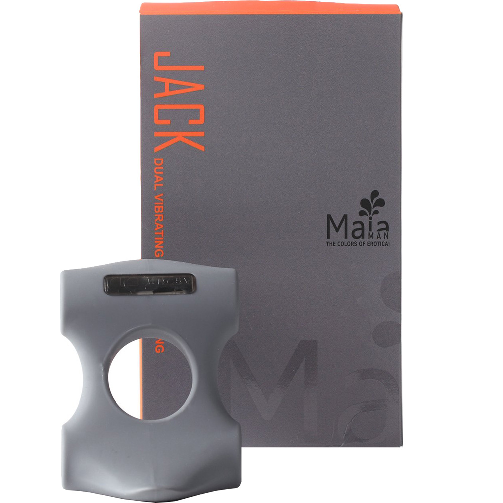 Maia Jack Dual Vibrating Rechargeable Couples Ring Slate - View #3