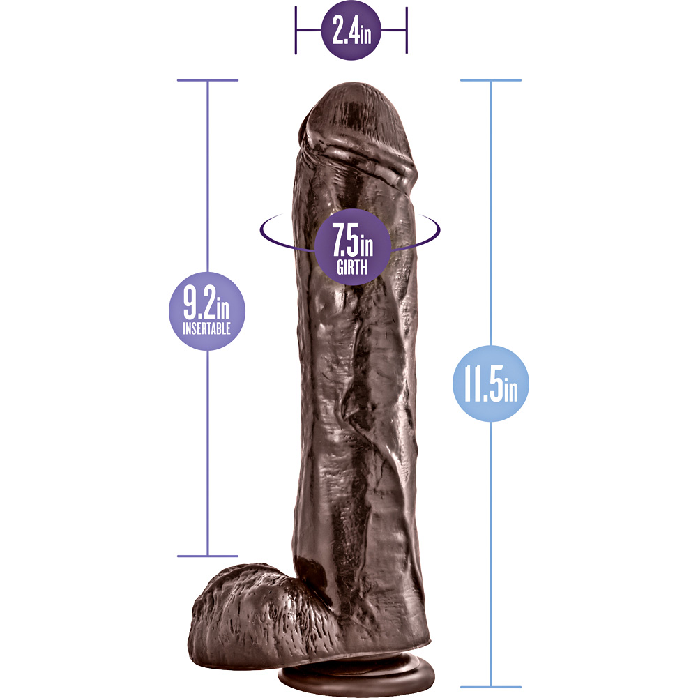 "Dr Skin Mr Savage Dildo with Suction Cup 11.5"" Chocolate - View #1"