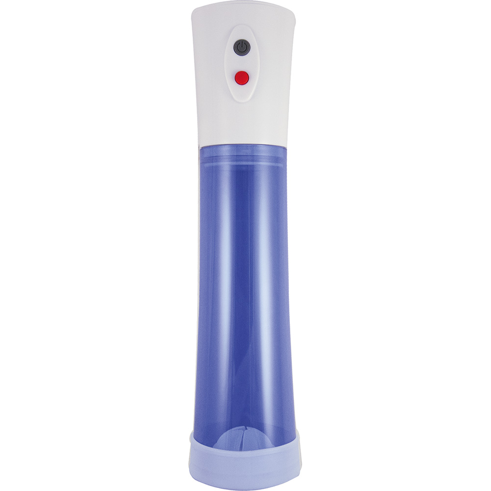"""Commander Rechargeable Electric Penis Pump 11.5"""" by 2.75"""" Blue - View #2"""