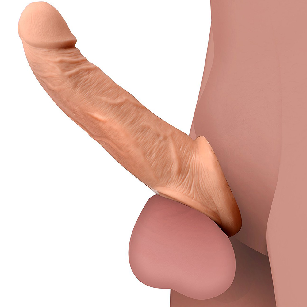 """Size Matters Ultra Real 2"""" Solid Tip Penis Extension 8.5"""" Beige - View #1"""