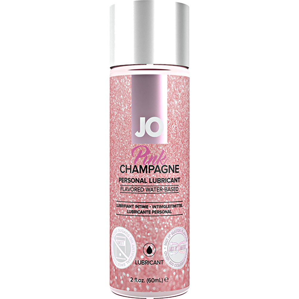 JO Water Based Flavored Personal Lubricant 2 Fl.Oz 60 mL Pink Champagne - View #1