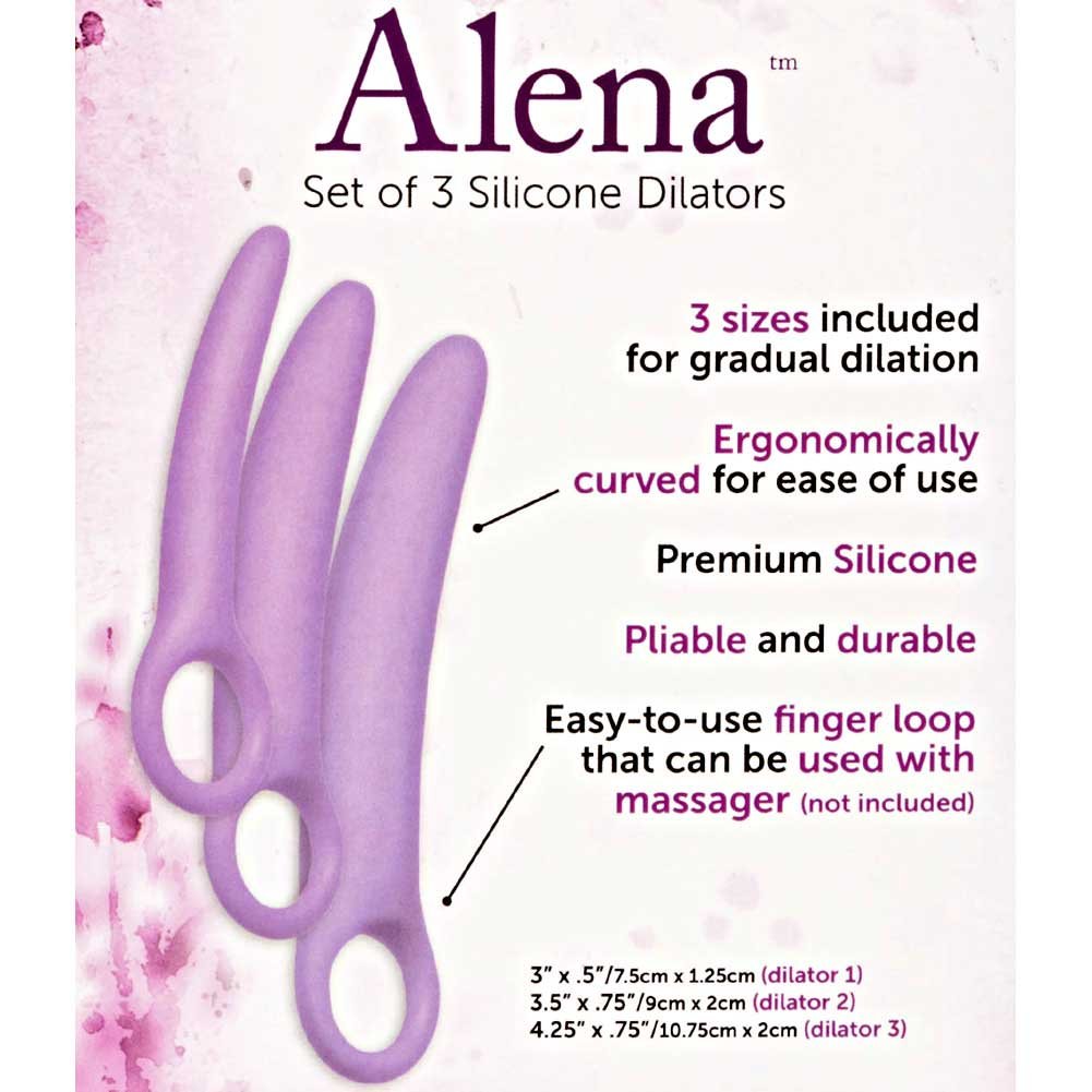 Dr Laura Berman Intimate Basics Alena Set of 3 Silicone Dilators Lavender - View #1