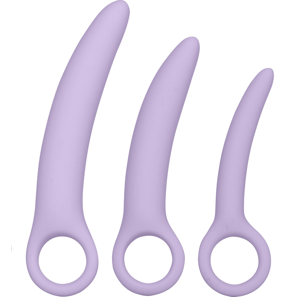 Dr Laura Berman Intimate Basics Alena Set of 3 Silicone Dilators Lavender - View #2