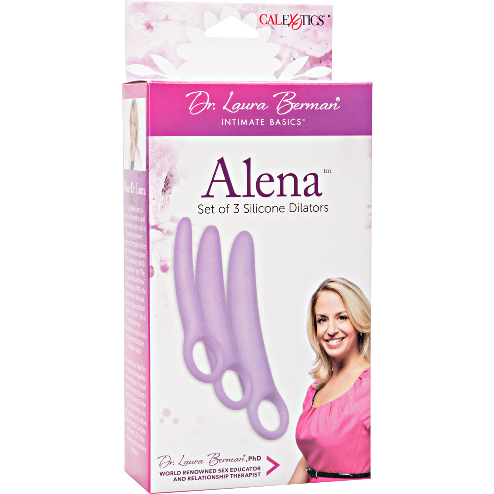 Dr Laura Berman Intimate Basics Alena Set of 3 Silicone Dilators Lavender - View #4