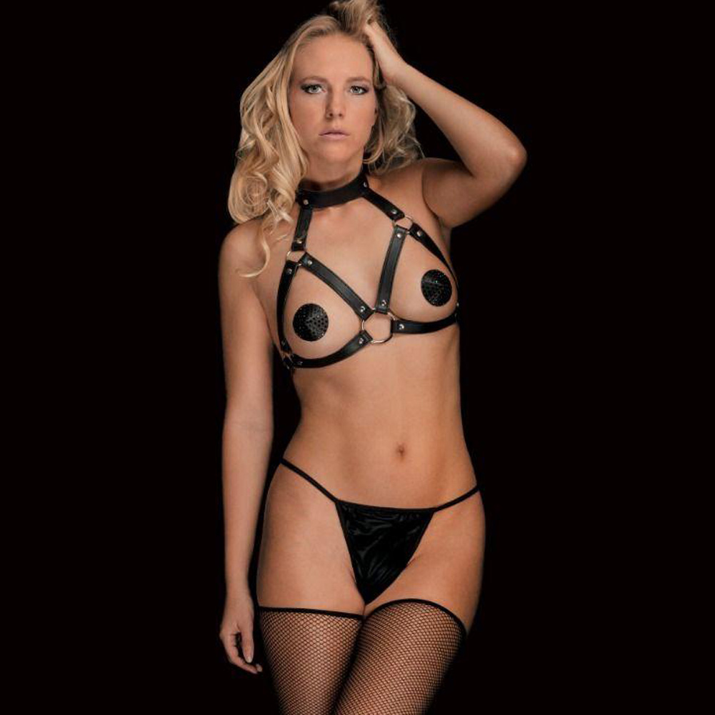 Ouch Chara Beautiful Breast Harness One Size Black - View #2