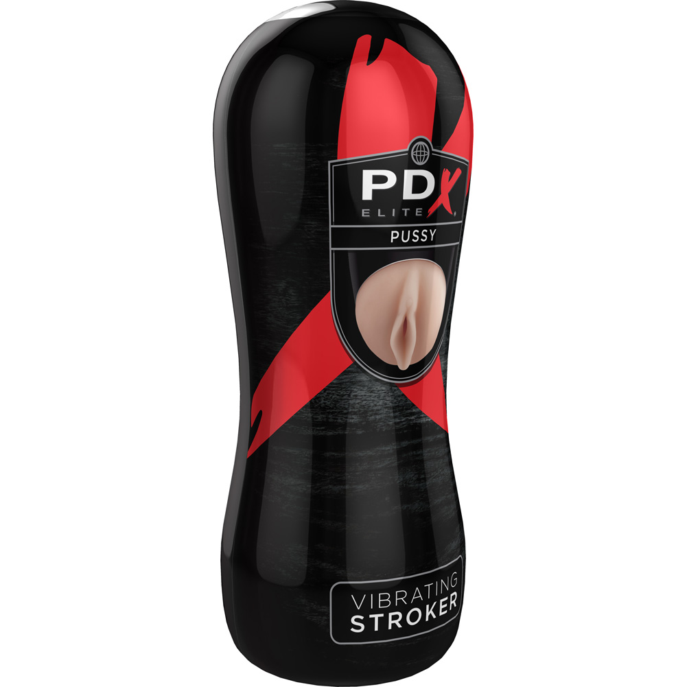 """Pipedream PDX Elite Vibrating Realistic Pussy Stroker 6.5"""" Beige - View #3"""