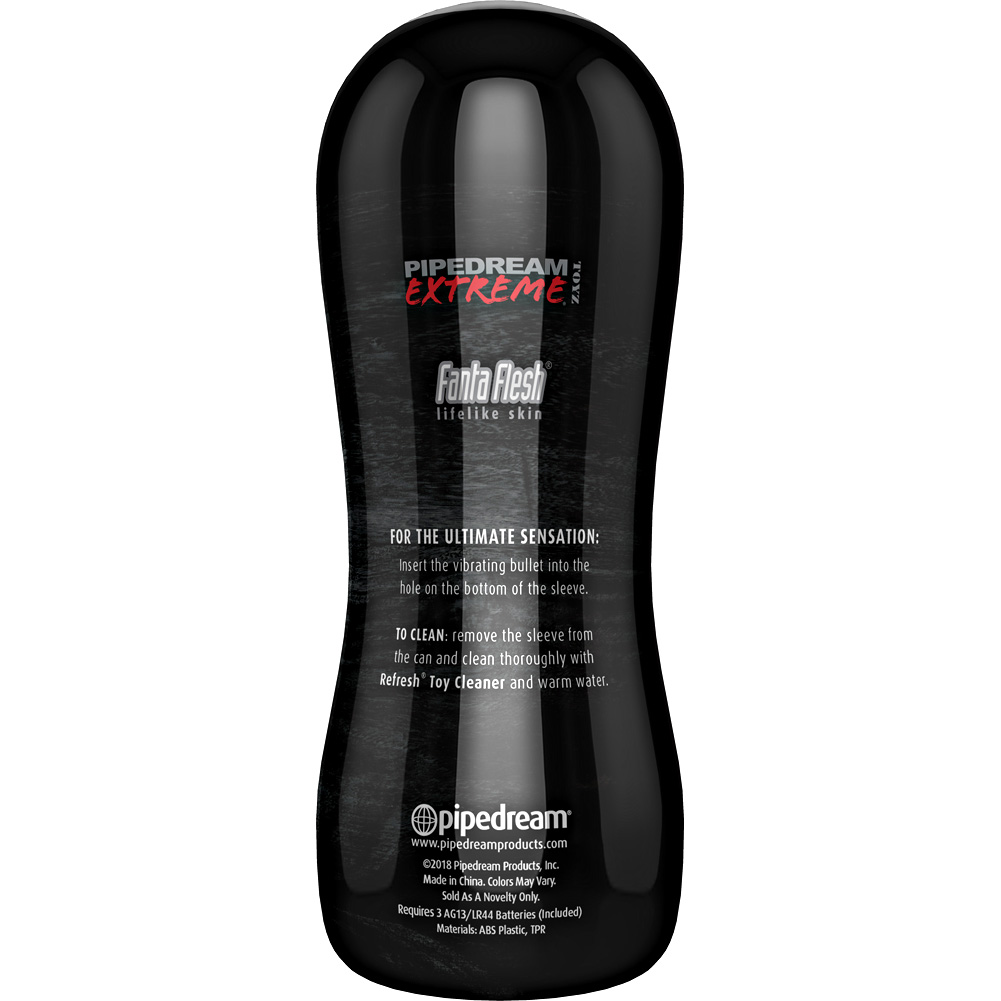 """Pipedream PDX Elite Vibrating Realistic Pussy Stroker 6.5"""" Beige - View #4"""