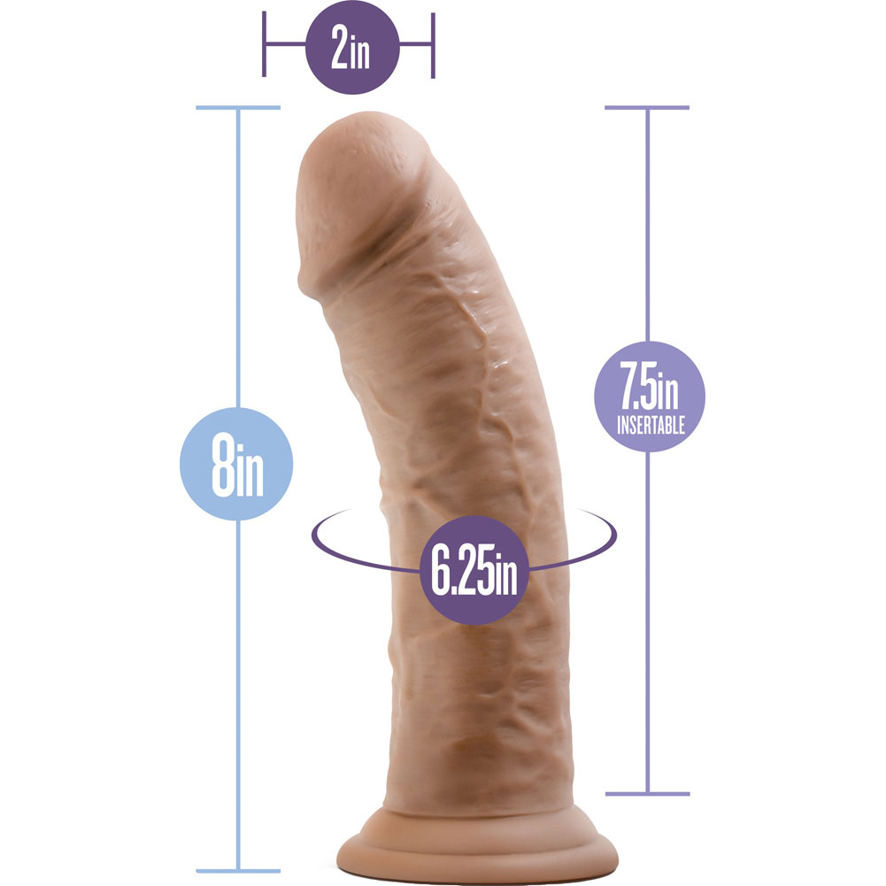 "Au Naturel Sensa Feel Thick Dual Density Cock 8"" Mocha - View #1"